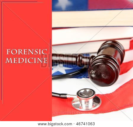 Concept of forensic medicine close up