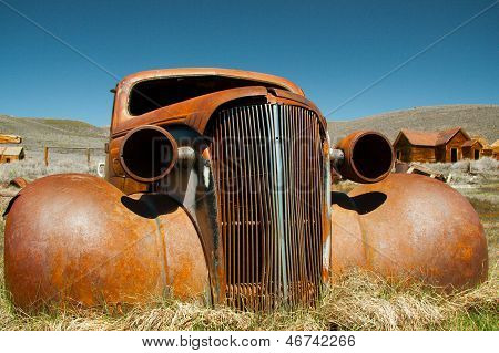 Abandoned Shell Of American Car