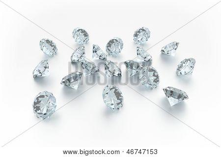 3D Diamonds - 18 Gems