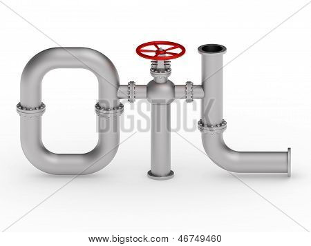 Oil Word From Pipes
