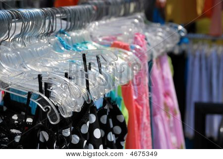 Dresses On A Clothing Rack