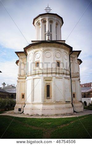 The Church Of Polovragi Monastery In Romania