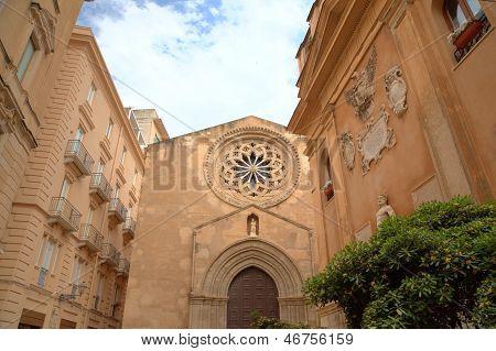 Church of Sant'Agostino in Trapani. Sicily, Italy