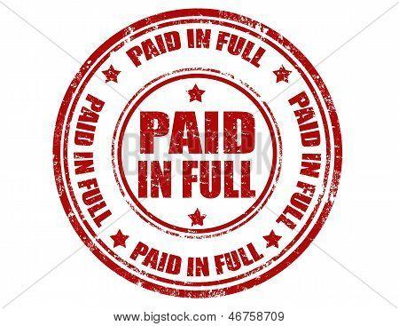 In voll-Stempel bezahlt