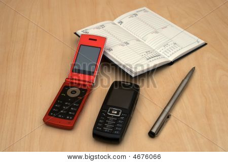 Mobiles, Pen And Organizer