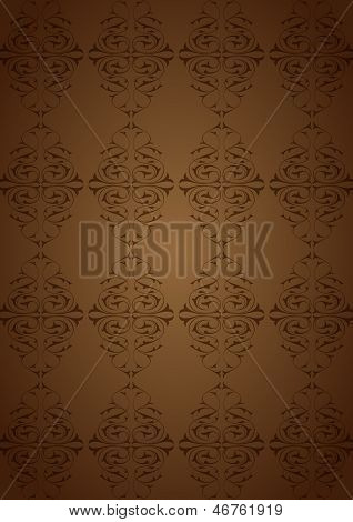 Ottoman Pattern and brown background