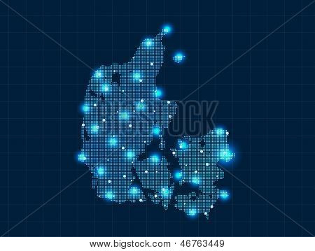 pixel Denmark map