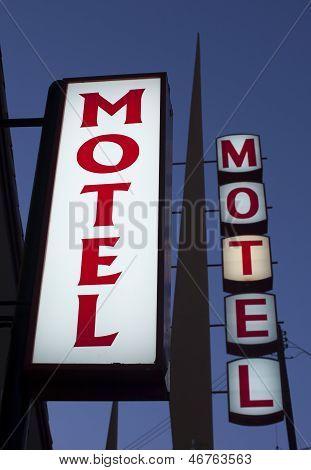 Motel signs night