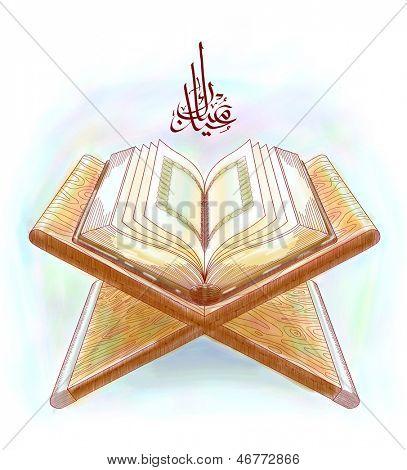 Muslim Qur'an Translation of Jawi Text: Eid Mubarak, May you Enjoy a Blessed Festival
