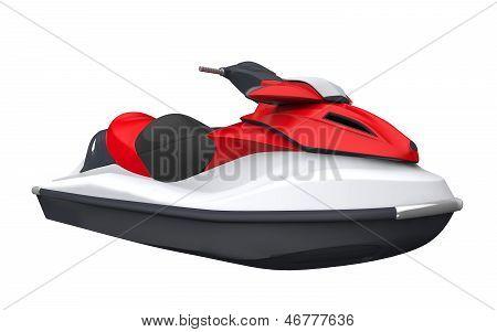 Jet Ski Isolated on White Background. 3D render poster