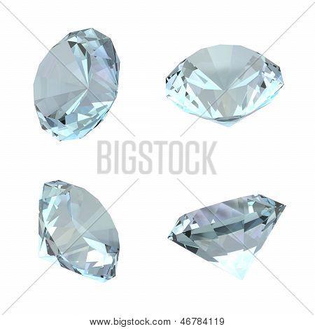 3D Diamonds - Isolated