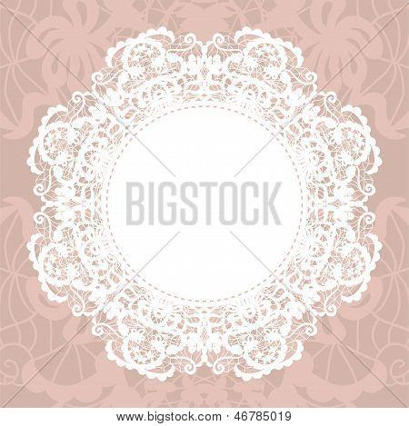 Elegante kleedje op Lace zachte achtergrond