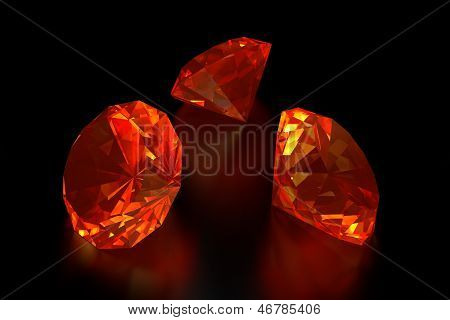 3D Fire Diamonds