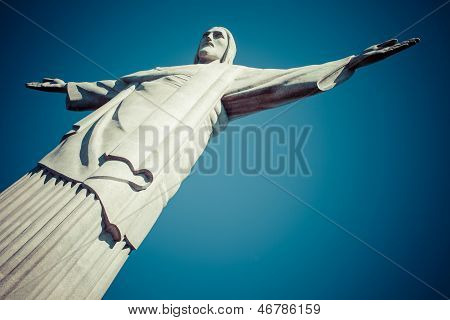 Christ the Redeemer statue in Rio de Janeiro in Brazil poster