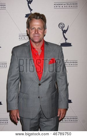 LOS ANGELES - JUN 13:  Kin Shriner arrives at the Daytime Emmy Nominees Reception presented by ATAS at the Montage Beverly Hills on June 13, 2013 in Beverly Hills, CA