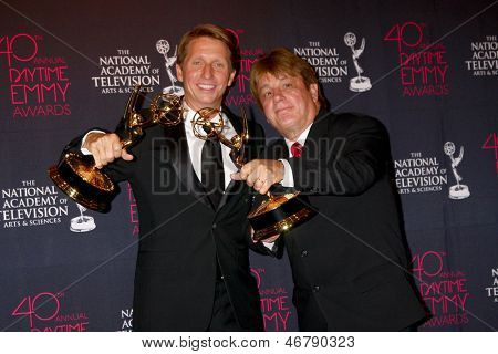 LOS ANGELES - JUN 14:  Brad Bell, Jack Allocco attends the 2013 Daytime Creative Emmys  at the Bonaventure Hotel on June 14, 2013 in Los Angeles, CA