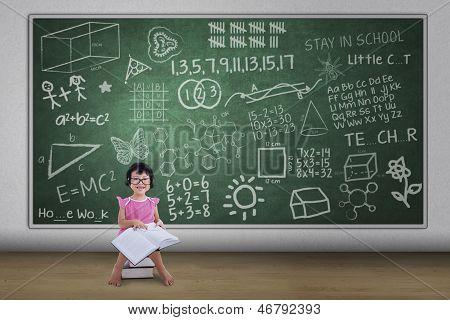 Hübsch Nerd Girl Lesebuch In Klasse