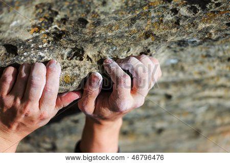 Rock climber's hand