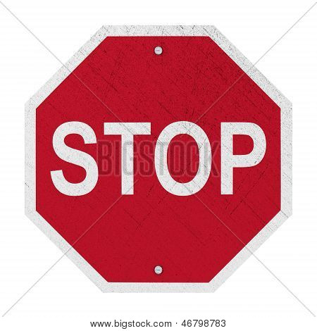 Used STOP Sign - Isolated