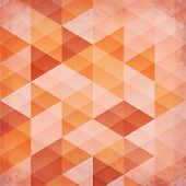 Abstract triangles vintage vector orange background. This is file of EPS10 format. poster