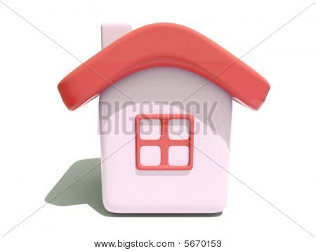 Simple House With Red Roof