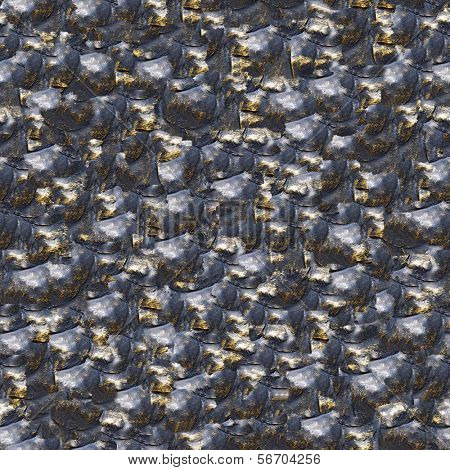 Wrought bronze design. (Seamless pattern for continuous replicate).