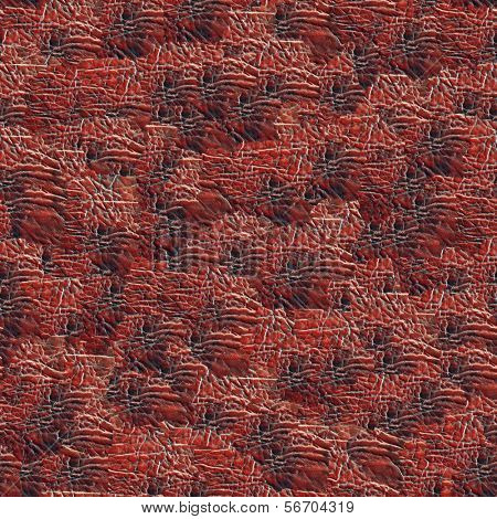 Leather-substitute background. (Seamless pattern for  continuous replicate). poster