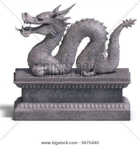 Chinese Dragon Stone Statue