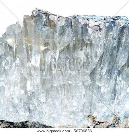 mineral quartz on a white background