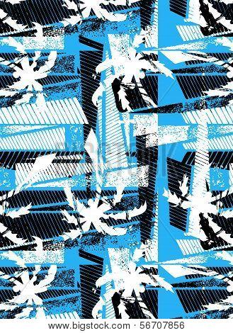 Tropical Palm Stencil Pattern.eps