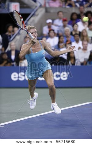 Professional tennis player Camila Giorgi during third round match at US Open 2013