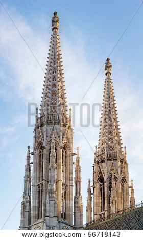 The Votive Church is a neo-Gothic church located on the Ringstrasse in Vienna Austria poster