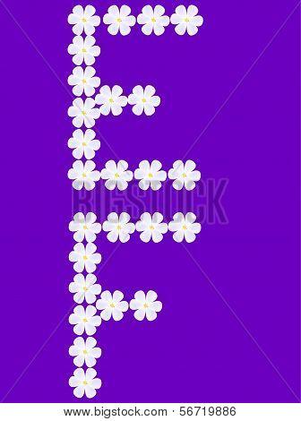 flowers letter e,f