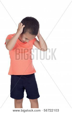 Little Boy With Organge Shirt