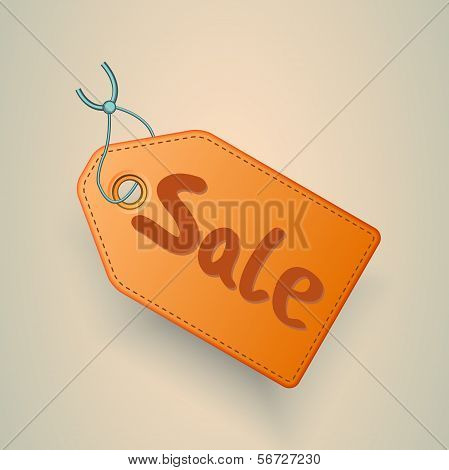 Sale price tag vector label