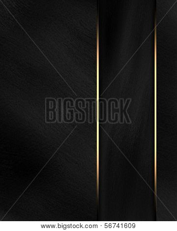 Beautiful black background with a black nameplate for writing.