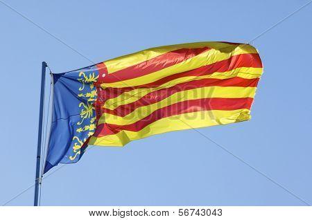 forefront of the flag of Comunidad de Valencia, Spain