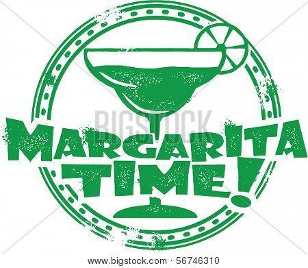 Margarita Time Cocktail Bar Menu Stamp