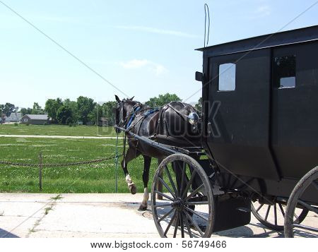 Parking spot for Amish