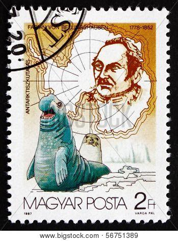 Postage Stamp Hungary 1987 Fabian Von Bellingshausen