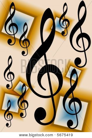 Treble Clef Music Background