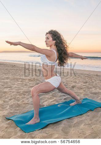 Beach Yoga Woman