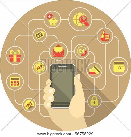 Smart Shopping Concept