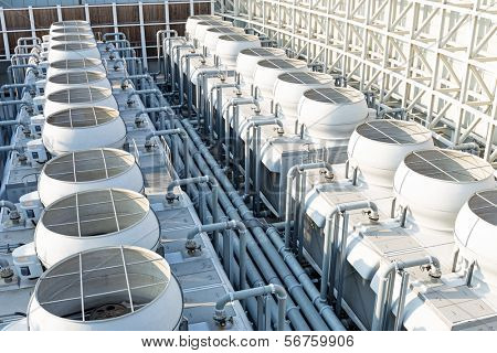 Air conditioning systems on roof top