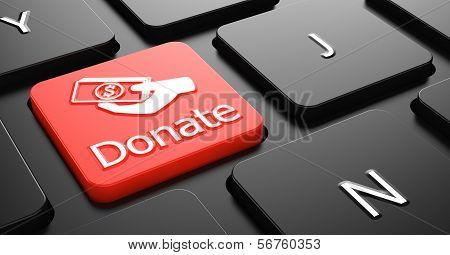 Donate on Red Keyboard Button.