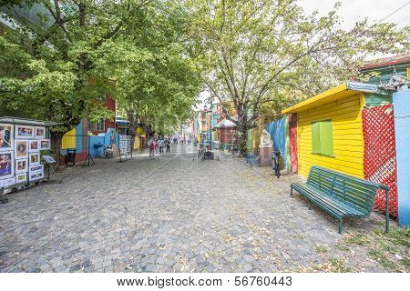 Caminito Street In Buenos Aires, Argentina.