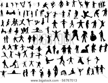 Lot of Silhouette figures
