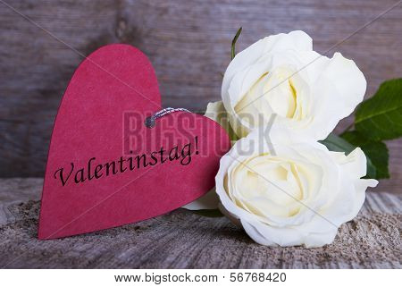 Background With Valentines Day Label