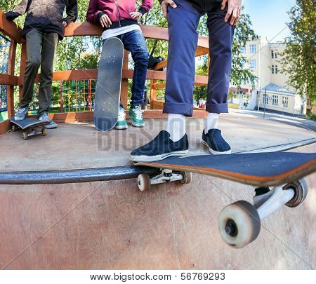 Skateboarders In Skatepark