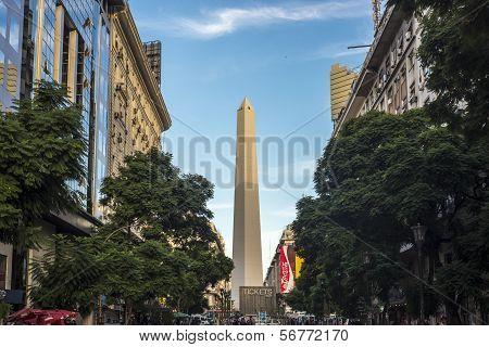 The Obelisk (el Obelisco) In Buenos Aires.